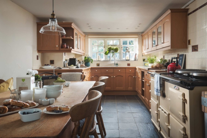 Family kitchen with large Aga